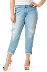 Plus Size Women's Mynt 1792 Destructed Boyfriend Jeans