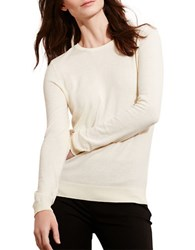 Lauren Ralph Lauren Cotton Crewneck Sweater Ivory