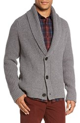 Vince Men's Trim Fit Shawl Collar Button Cardigan Heather Cinder