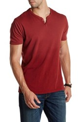 Lucky Brand Northshore Notch Henley Red