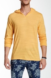 Threads For Thought V Neck Long Sleeve Hoodie Yellow
