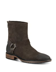 Marc New York Moore Suede Buckle Boots Black