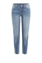 7 For All Mankind Seven For All Mankind Cropped Jeans Blue