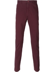 Etro Chino Slim Trousers Pink And Purple
