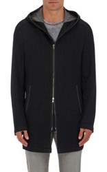 John Varvatos Star U.S.A. Men's Cotton Blend Elongated Hoodie Black