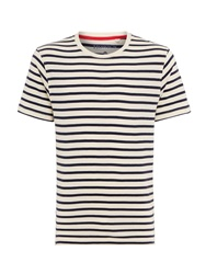 Howick Multistripe Printed T Shirt Blue