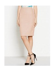 Reiss Essie Leather Pencil Skirt With Hooks Pink