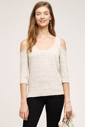 Anthropologie Spacedye Open Shoulder Pullover Neutral Motif