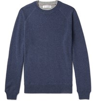 Brunello Cucinelli Knitted Cashmere Sweater Blue