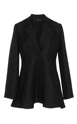 Co Peplum Blazer Black