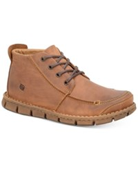Born Men's Neuman Moc Toe Boots Men's Shoes Light Brown