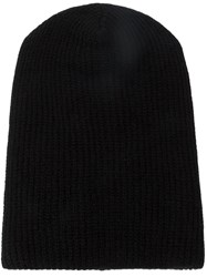 The Elder Statesman Slouchy Beanie Black
