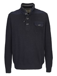 Paul Costelloe Navy Zip Pullover With Pockets