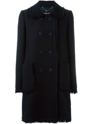 Twin Set Double Breasted Coat Blue