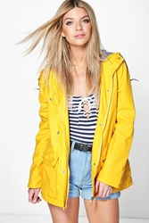 Boohoo Coated Pu Festival Rain Mac Yellow