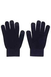 Touch Screen Gloves Navy Blue