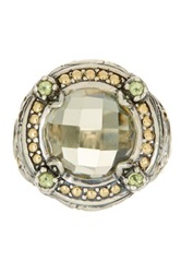 Phillip Gavriel 18K Yellow Gold And Sterling Silver Green Amethyst And Peridot Fancy Ring