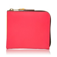 Comme Des Garcons Sa3100sf New Super Fluo Wallet Pink And Yellow