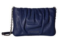 Marc Jacobs Gathered Pouch Pouch With Chain Dark Blue Handbags