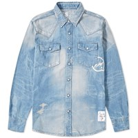 Denim By Vanquish And Fragment Western Shirt Blue