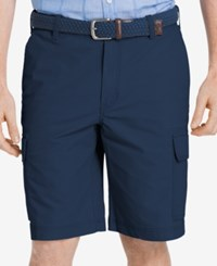 Izod Men's Lightweight Poplin Cargo Shorts Cadet Navy