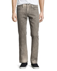 True Religion Basic Straight Faded Flap Pocket Jeans Charcoal
