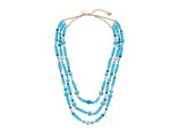 Kate Spade Black Tie Optional Triple Strand Necklace Turquoise Multi