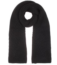 Acne Studios Hana Knitted Wool And Mohair Blend Scarf Black