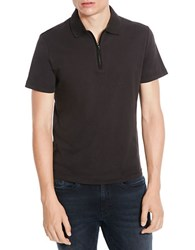 Kenneth Cole Quarter Zip Polo Shirt Black