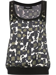 Dsquared2 Spotted Pattern Tank Top Black