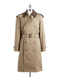 Hart Schaffner Marx Warmer Accented Trench Coat Tan