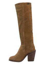Pepe Jeans Duncan High Heeled Boots Nut Brown