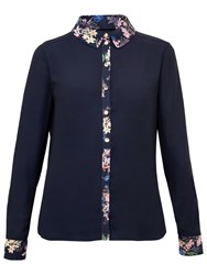 Ted Baker Takala Botanical Trail Shirt Navy