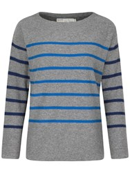 Seasalt Captain Stripe Jumper Cookworthy Grey