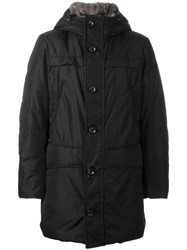 Peuterey Zipped Mid Hooded Coat Black