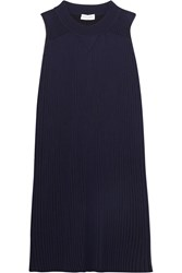 Sonia Rykiel Pleated Knitted Top Navy