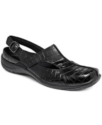Easy Street Shoes Easy Street Sportster Comfort Clogs Women's Shoes Black Croco