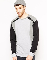 Anerkjendt Sweatshirt With Panelling Grey