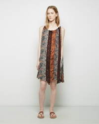 Isabel Marant Abilay Blocked Tank Dress Orange