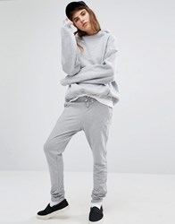 Le Coq Sportif Grey Logo Sweatpants Light Heather Grey
