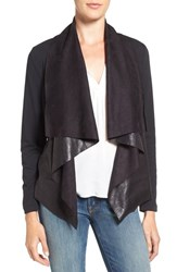 Splendid Women's Mixed Media Drape Front Jacket
