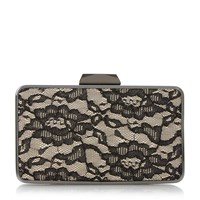 Head Over Heels Belvire Mat Interest Box Clutch Bag Black