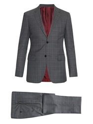 Gucci New Brera Checked Wool And Silk Blend Suit