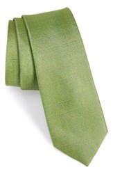 Calibrate Men's Solid Silk Tie Green