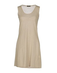 Have A Nice Day Short Dresses Beige