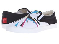 Bucketfeet Cmyk Visons Black White Men's Slip On Shoes