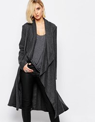Religion Freedom Charcoal Grey Wool Coat Charcoal Grey Op