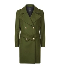 Pinko Belted Military Jacket Female Green
