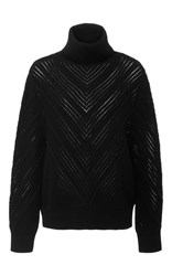 Frame Denim Chevron Turtleneck Black