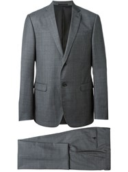 Z Zegna Checked Suit Grey